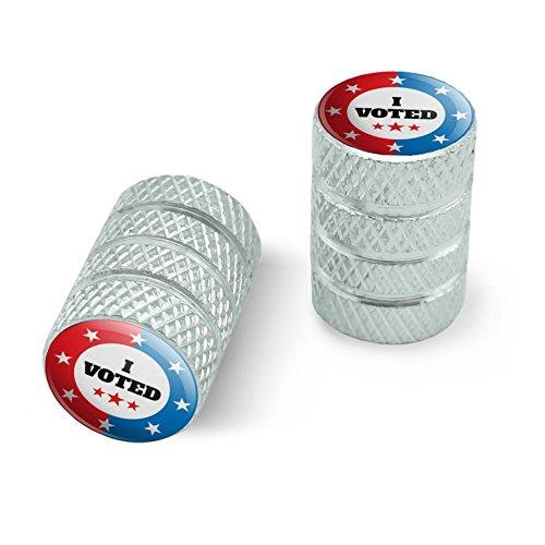 私は赤い白青愛国に投票しましたオートバイ自転車バイクタイヤリムホイールアルミバルブステムキャップ - アルミニウム