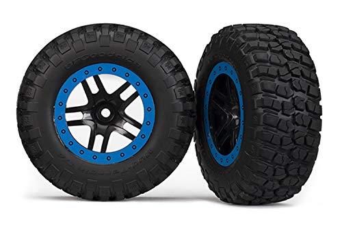 Traxxas 5883A BF Goodrich Mud Terrain Tires, Pre-Glued on Split Spoke Wheels (Pair) best to buy