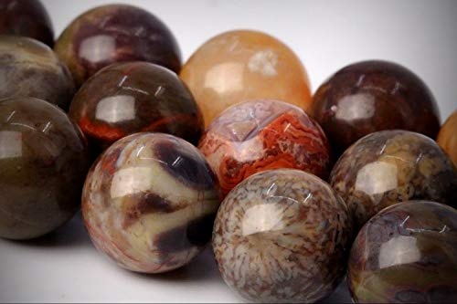 Approx. 50 Beads Lot - 8mm Rainforest Agate Color Grade AAA Round Loose Jewelry Making Beads 16