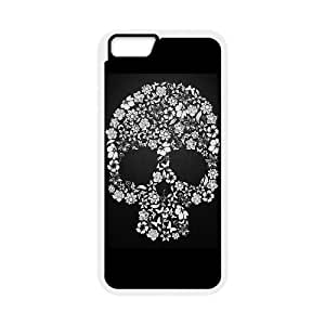"""ALICASE Diy Hard Shell Cover Case Of Skull for iPhone 6 Plus (5.5"""") [Pattern-1]"""