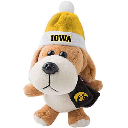 NCAA Iowa Hawkeyes Plush Dog Ornament (Brown Iowa Hawkeyes Football)