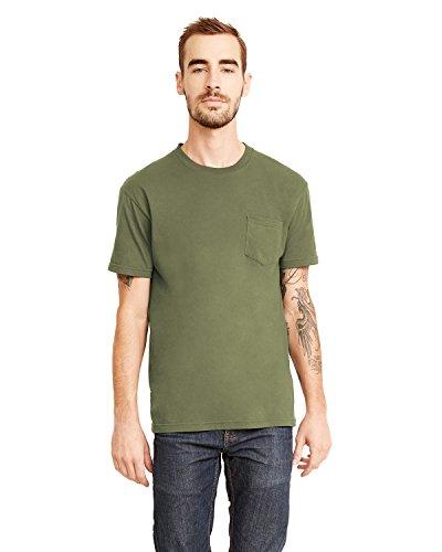 Next Level Men's Pocket Crew T-Shirt, Military Green, XX-Large