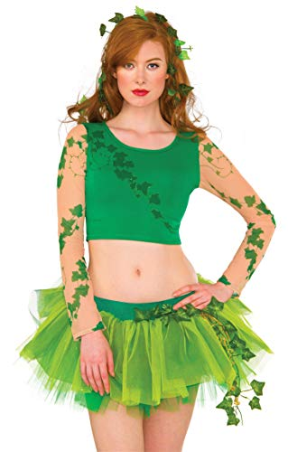 Rubie's DC Superheroes Long Sleeve Crop Top, Poison Ivy -