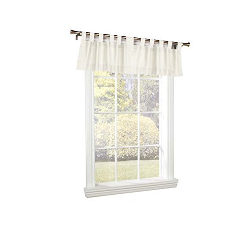 Commonwealth Home Fashions 70292-438-001-15 Thermalogic Insulated Solid Color Tab Top Valance, White