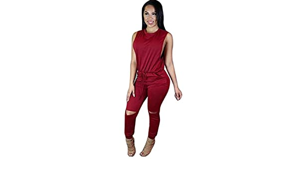 Suncolor8 Womens Fashion V-Neck Bodycon Printing Long Sleeve Clubwear Jumpsuit Romper
