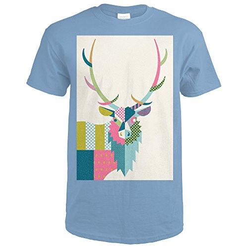 elt Elk - Patterned (Indigo Blue T-Shirt Medium) (Roosevelt Cabin)