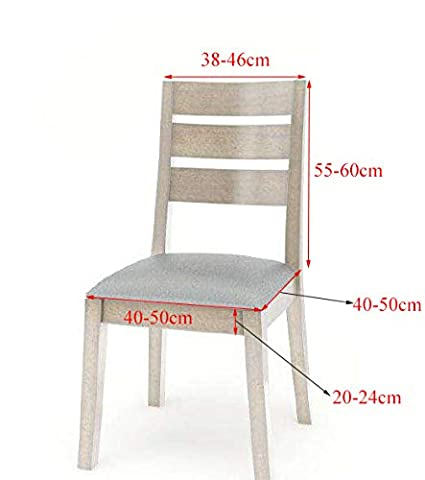 HAORUI Spandex Estiramiento Cubiertas para sillas Silla Desmontable Protector 4 Piezas Fundas Lavables Silla Alta Comedor Hotel Ceremonia Oficina (4 ...