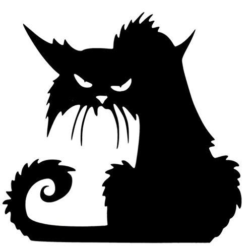 Kauneus  Black Cat Removable Window Wall Sticker for Halloween Home Decoration