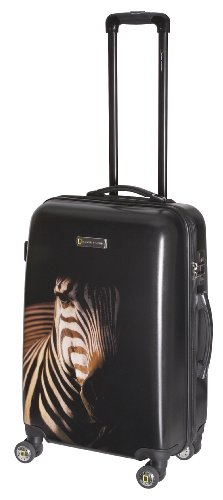 National Geographic Luggage Balboa 24 Inch Hardside Spinner, Black Zebra, One Size, Bags Central