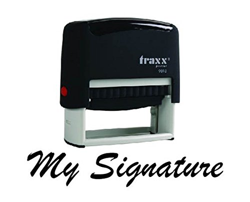 Traxx Custom SIGNATURE Self Inking Rubber Stamp - Traxx Printer 9013 - 58 x 22 mm