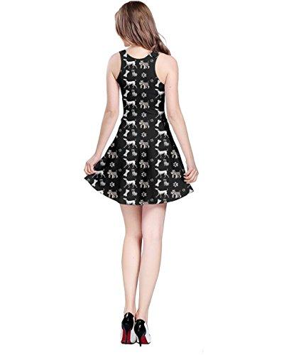 CowCow - Vestido - para mujer Gray & Black Dog