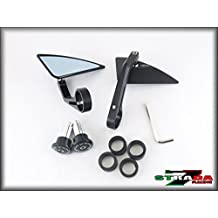 Strada 7 Racing CNC Aluminum Bar End Mirrors 08 - 2013 Triumph 675 STREET TRIPLE