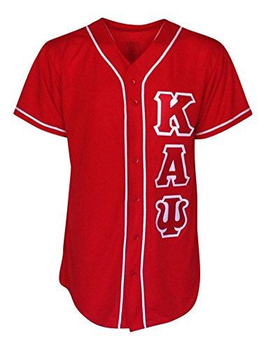 Mega_Greek Mens Kappa Alpha Psi Baseball Jersey (Red, XX-Large) (T-shirt Alpha Jersey)
