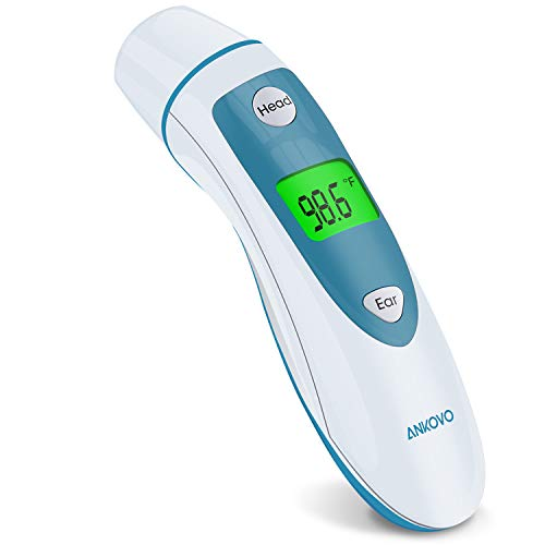 Baby Thermometer for Fever, Forehead and Ear Thermometer Adults, Temporal Digital Thermometer Medical with Instant Read Infrared Thermometers for Adults, Kids and Infants, Blue