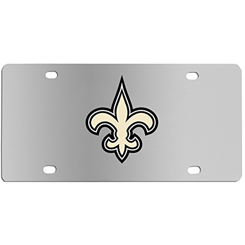 (Siskiyou NFL New Orleans Saints Steel License Plate with Digital Graphics)
