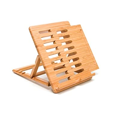 Lipper International 1887 Bamboo Expandable and Adjustable Ipad Stand, Brown