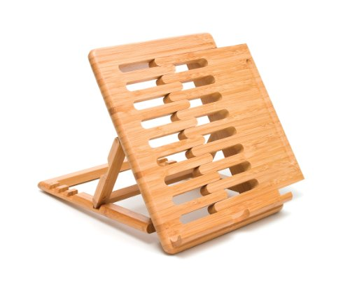 Lipper International 1887 Bamboo Wood Expandable Stand for iPad, Samsung, Nexus, Nintendo Switch, and Other Tablets