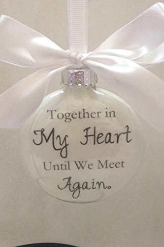 Memorial Glass Christmas Ornament Personalized product image