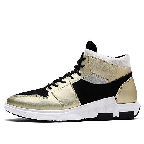 Otoño de Verano Aire Moda Zapatos al los con Zapato Cordones de Plano Libre Tendencia de Gold de tacón 2018 Hombres dXXxqprw1