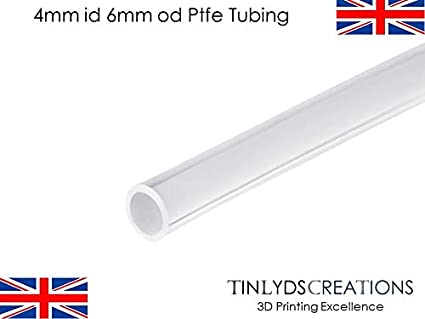 Tubo de 4 mm ID 6 mm OD PTFE de teflón Bowden tubo de 2 metros de ...