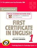 Cambridge First Certificate in English 1 for Updated Exam, Cambridge ESOL Staff and Cambridge Esol, 0521714443