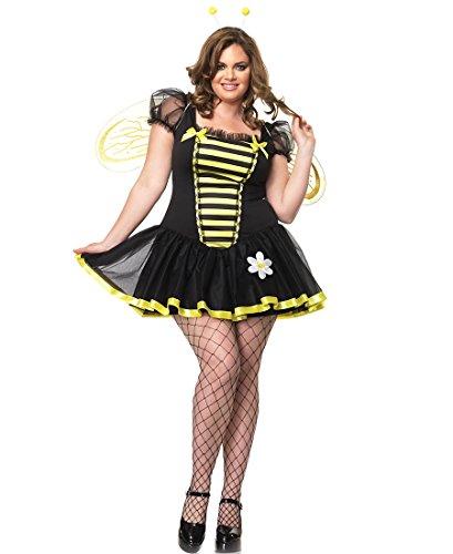 Leg Avenue 83645X Daisy Bee Sexy Adult Costume - 1X-2X - Black/Yellow