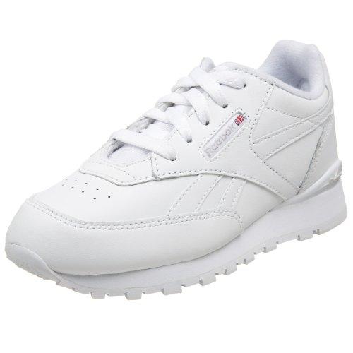 Reebok Little Kid/Big Kid CL Conquest Clip Running Shoe,White/Sheer Grey,13 M US Little Kid - Kid Wanted Boy Shoe