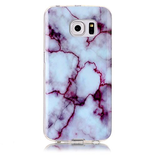 UCLL Samsung Galaxy S6 Case ,Galaxy S6 Marble Deasign Case Soft Flexible TPU Slim Fit Protective Cover Case for Samsung Galaxy S6 with a Screen Protector