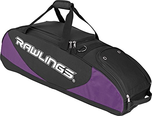 Rawlings player preferred wheel bag, purple