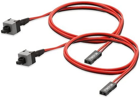 2x Power cable and button switch for pc replacement on off switch reset computer