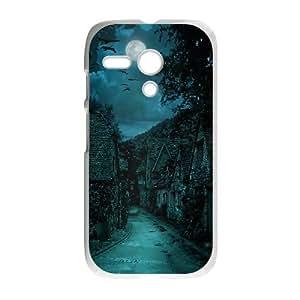 Motorola G Cell Phone Case White The dark village O4I7YD