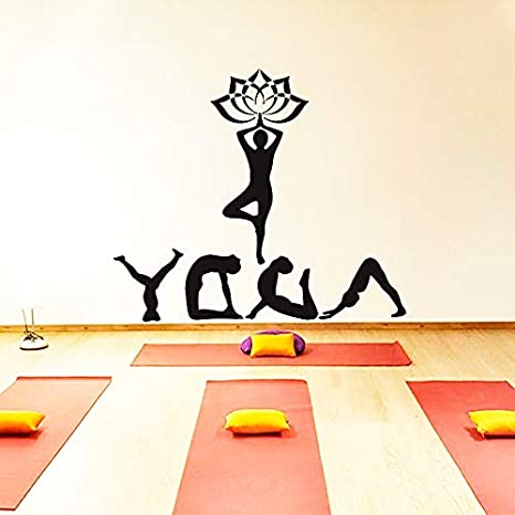 Yoga Meditación Deporte Namaste Decal Vinyl Sticker Home ...