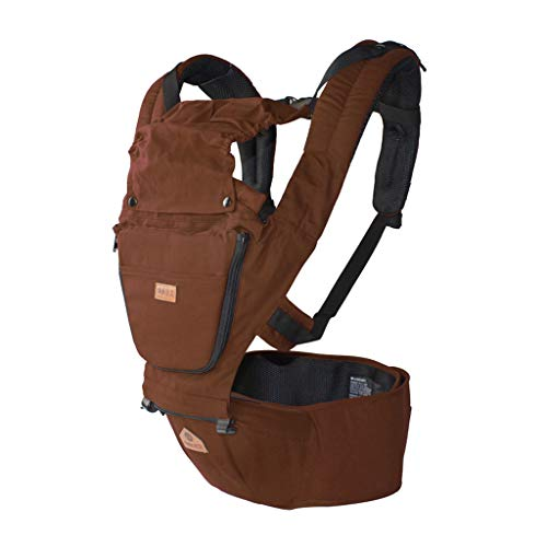 Oleg Neck Strap - YUNFEILIU Ergonomic Baby Carrier 3-in-1 Backpack with Hip Seat - 12 Positions for Growing Babies (Newborns, Toddlers and Toddlers)