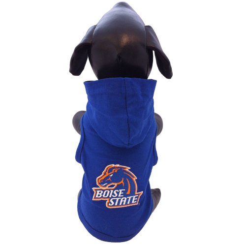 - NCAA Boise State Broncos Collegiate Cotton Lycra Hooded Dog Shirt (Team Color, X-Large) Royal Blue/Orange
