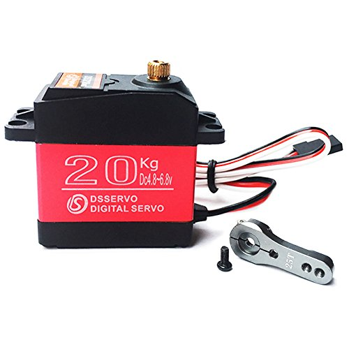 - ANNIMOS 20KG Digital Servo High Torque Full Metal Gear Waterproof for RC Model DIY, DS3218MG,Control Angle 270°
