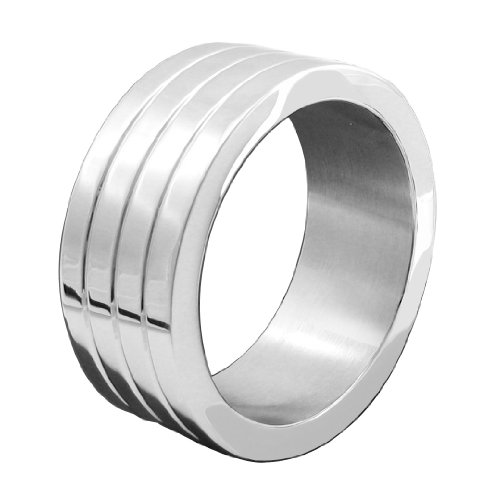 M2M Metal C-ring, Stainless Steel With Grooves, Includes Bag, 1.875, Wide by M2M
