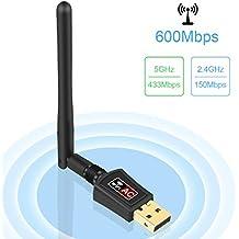 Zoweetek 600Mbps mini 802.11ac Dual Band 2.4G/5G Wireless Network Adapter