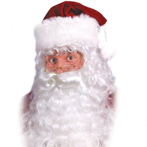 Santa Beard And Wig Set (Fun World Costumes Men's Quality Santa Beard and Wig Set, White, One Size)