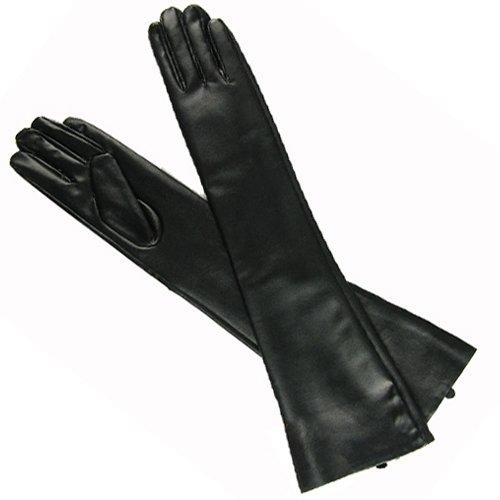 New Hot Sexy Black PU Long Arm Warmer Dress Up Gloves /Lady Gaga Gossip Girl Kim Size L (Lady Gaga Costume Halloween)