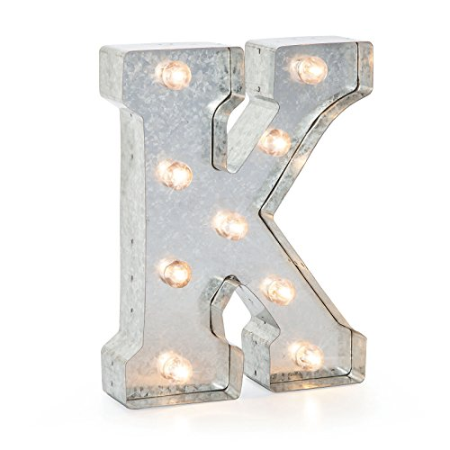 Darice 5915-712 Silver Metal Marquee Letter 9.875