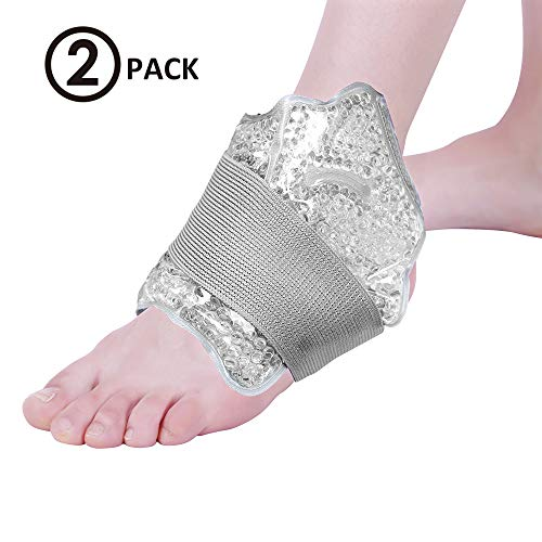 NEWGO®Ice Pack for Foot & Ankle, Reusable Ankle Ice Pack Hot Cold Gel Pack for Injuries, Sprains(10
