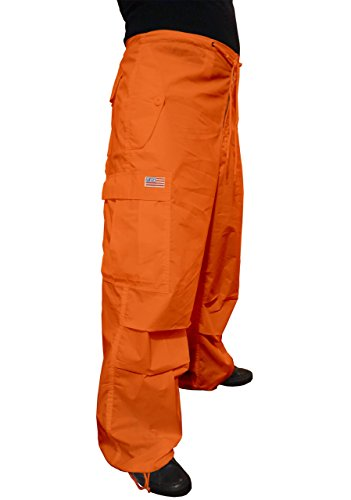 UFO's Classic Wind Pant, Orange (Rainbow Low Rise Jeans)