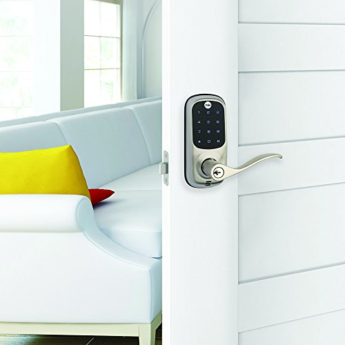Yale Real Living Keyless Touchscreen Lever Lock in Satin Nickel (Standalone) (YRL220-NR-619) by Yale Security (Image #2)