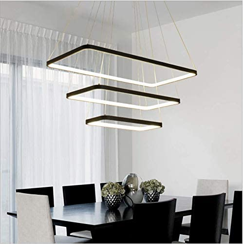 LightInTheBox 40CM Dimmable Modern Contemporary Led Rectangle Pendant Chandelier Ceiling Light Fixture Modern Contemporary Lamp