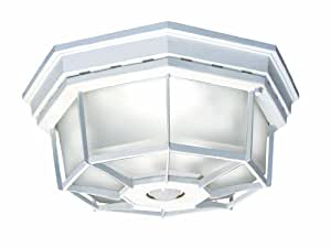 Heath/Zenith SL-4300-WH-A 360-Degree Motion-Activated Octagonal Ceiling Light, White