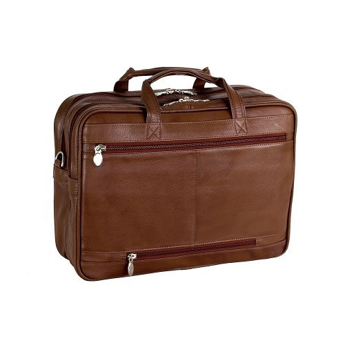 McKlein Men's Irving Park Laptop Case,Brown,16.5