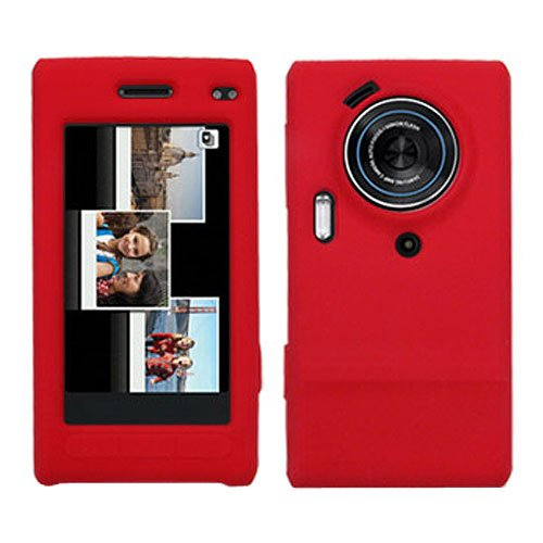 Amzer Silicone Skin Jelly Case for Samsung Memoir T929 - Red ()