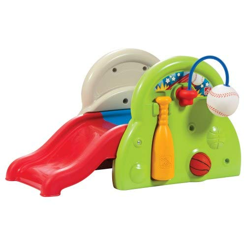 Step 2 Sports-Tastic Activity Center for Toddlers, Durable Outdoor Slide and Climber with Ball Game Accessories, Multicolor by Step2