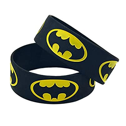 Sxuefang Silicone Bracelets With Logo Batman Rubber Wristbands For Kids Who Love Super Hero Set Pieces Estimated Price £29.99 -