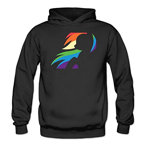 Tommery Women's My little pony Hasbro Rainbow Dash Costume Logo Long Sleeve Sweatshirts Hoodie -